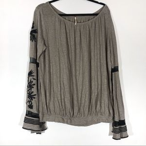 Free people bell sleeve top small Boho Festival